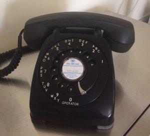 Rotary Phone in Black
